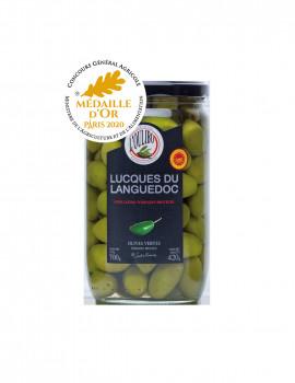 Olives vertes Lucques du Languedoc AOP