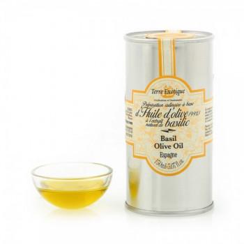 Huile d'olive à l'extrait naturel de basilic